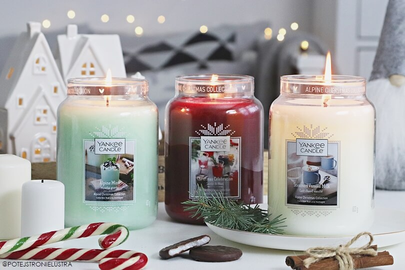Limitowane zapachy Yankee Candle na zimę 2019: Alpine Mint, Steamed Vanilla Milk, Christmas Celebration