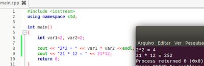 Operações matemáticas em C++