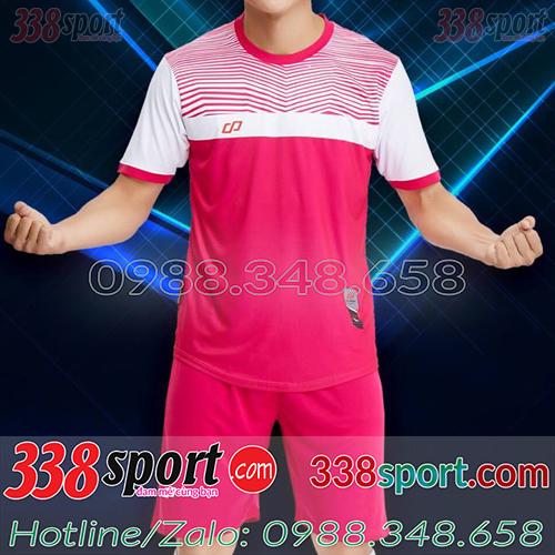Áo đá bóng màu hồng xịn
