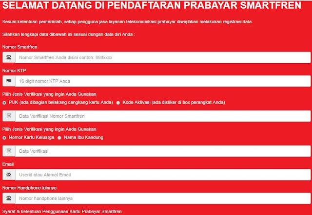 Cara Daftar atau Registrasi Kartu Smartfren Prabayar Perdana atau Pelanggan Lama
