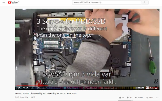 Laptop Disassembly Video