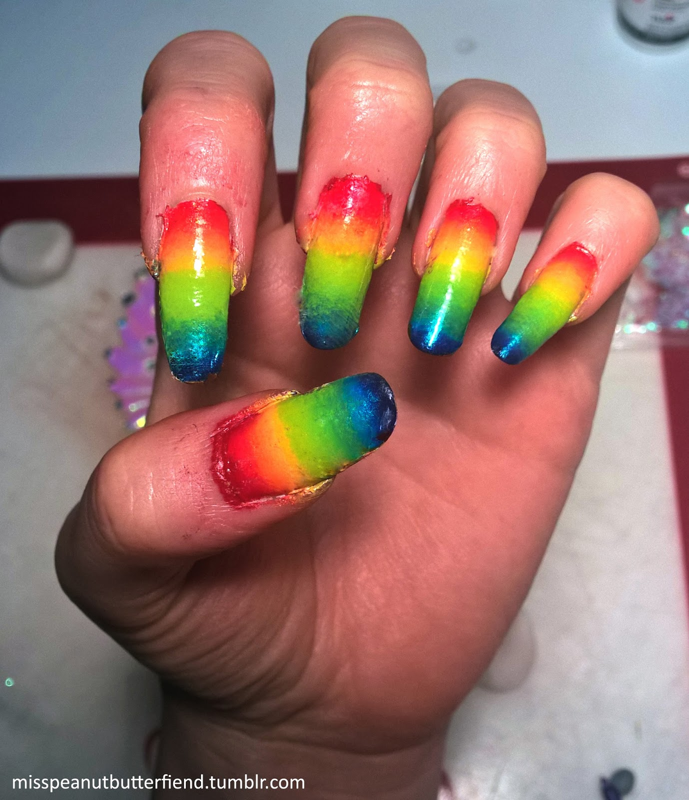 Pride Nail Designs: Ombre Nail Color & Design Ideas