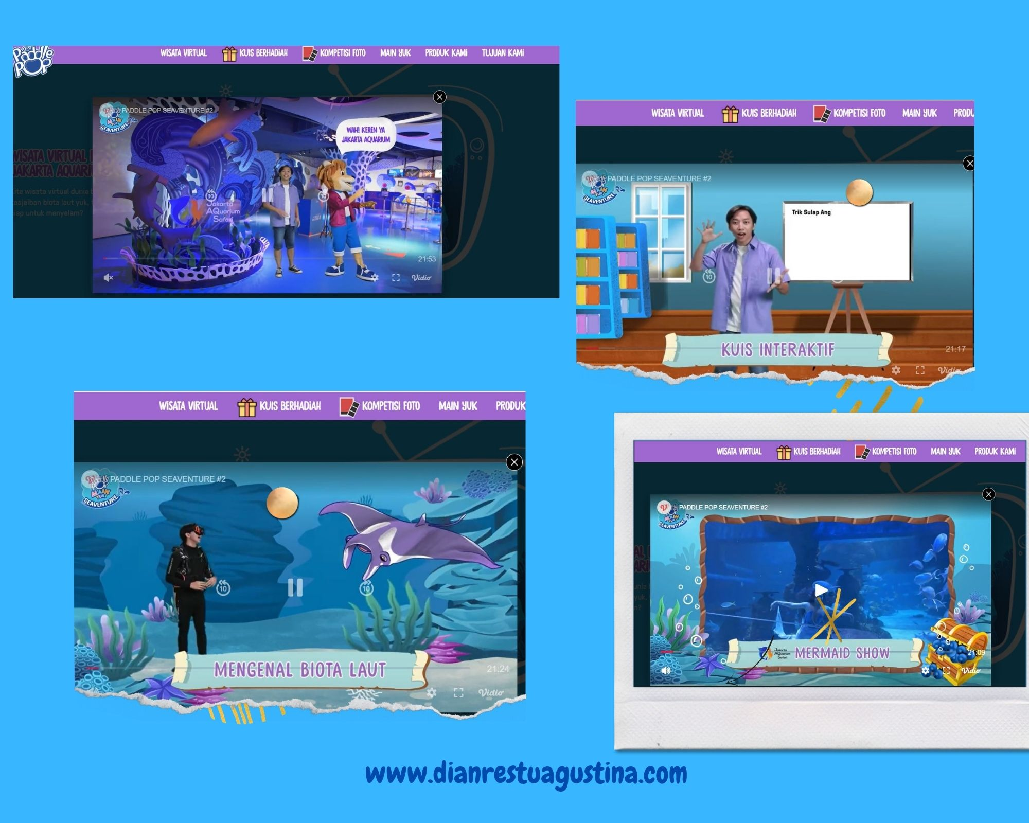 Wisata Virtual Jakarta Aquarium