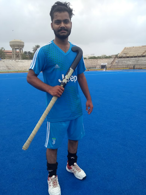 NCR-CET College students representing Intermediate Board Karachi in the Hockey Tournament