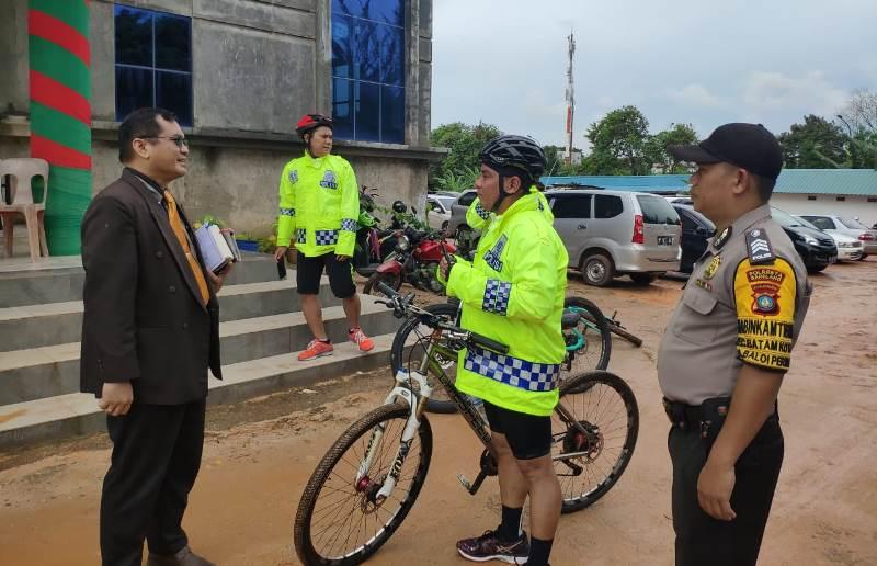 Kapolda Kepri Cek Langsung Kesiapan Pengamanan Dilapangan Dengan 'Patroli Sepeda'