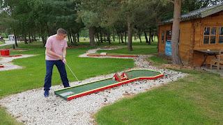 The Swedish Felt Crazy Golf course at Malkins Bank Golf Club in Betchton, Sandbach