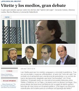 Antonio Ladra, Ignacio Álvarez, Leonardo Haberkorn y Gerardo Sotelo opinan sobre Luis Vitette.