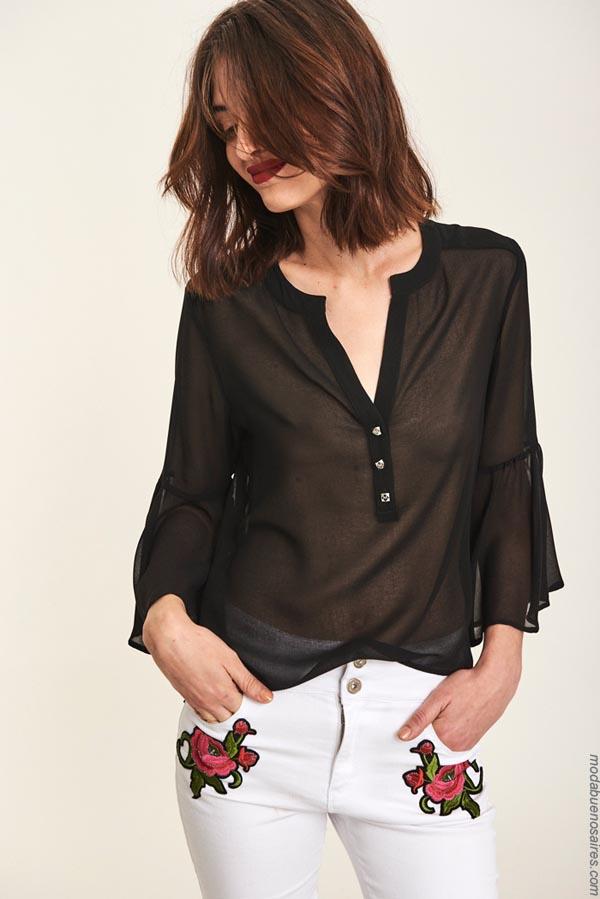 Blusas de moda mujer primavera verano 2019.