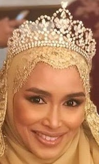 diamond floral tiara crown princess sarah brunei siti radhiah