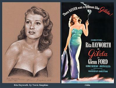 Rita Hayworth. 1918-1987. Hollywood Actress. Gilda. by Travis Simpkins