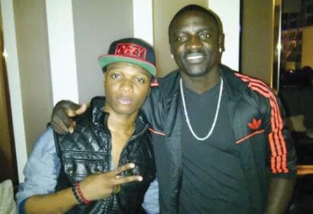 Finally, Wizkid reacts as Akon addressed him as 'Lil Bro'