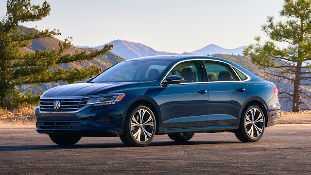 2020-vw-passat-sel-fully-redesigned-dark-blue