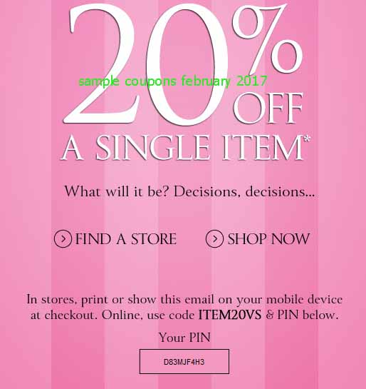 Victoria secret online coupons may 2018