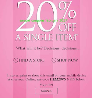 Victoria's Secret coupons february 2017