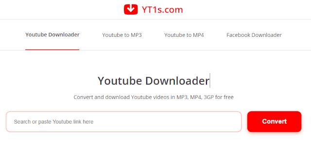 موقع yt1s Youtube Downloader .