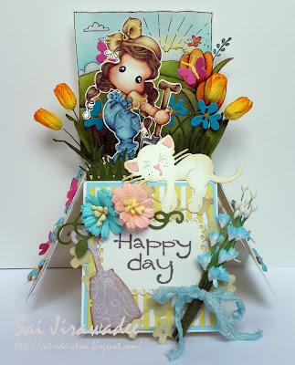 Magnolia Tilda in the Garden Spring Box Card