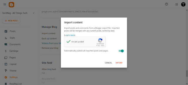 How to transfer posts from Wordpress to Blogger: Migrate Worpress posts to Blogger