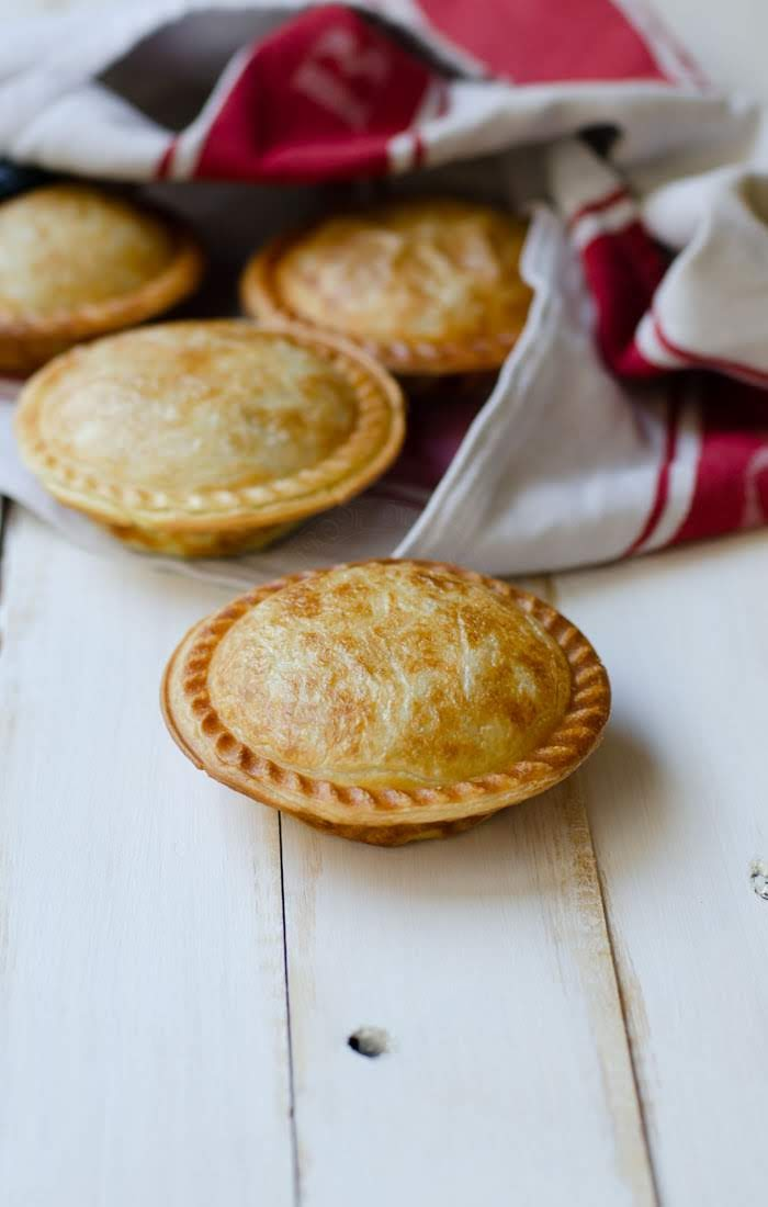 Baking Australian most favourite easy meal, a pie with Asian flavours