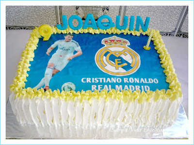 Tarta crema real madrid