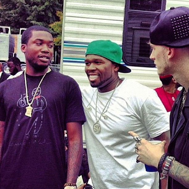 Meek Mill e 50 Cent brigam no Instagram