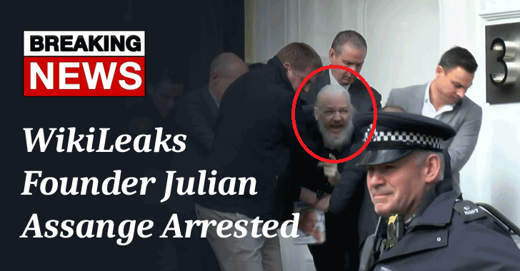 WikiLeaks founder julian assange arrested