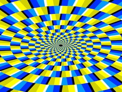 Optical Illusion of a Moving Pattern
