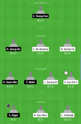 JNB vs DAE Football Dream11 Team