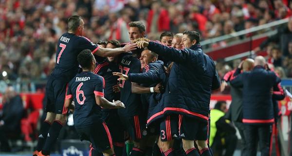 Video dan Hasil Liga Champions Benfica vs Bayern Munchen