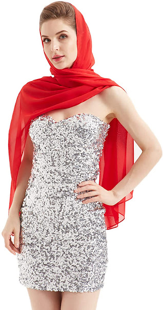 Best Red Chiffon Scarves
