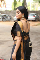 Poorna in Cute Backless Choli Saree Stunning Beauty at Avantika Movie platinum Disc Function ~  Exclusive 056.JPG