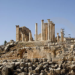 Jerash ruins show artistic influence of Christians, Muslims