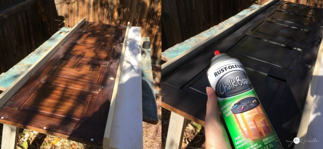using chalk board spray paint