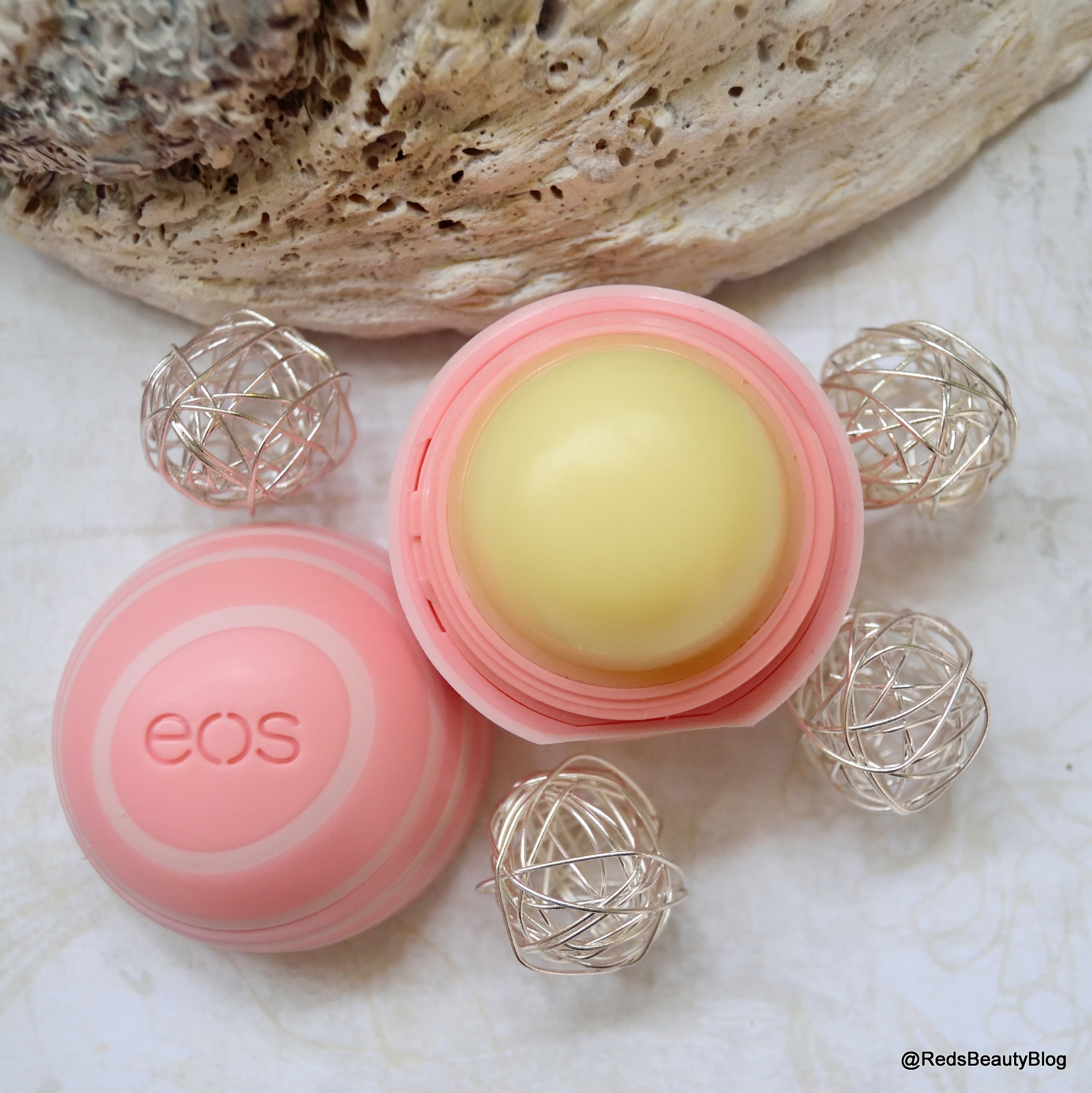 A picture of EOS lip balm in coconut