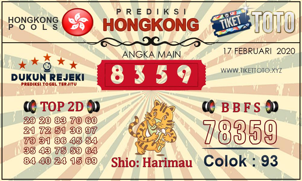 Prediksi Togel Hongkong 17 Februari 2020 - Prediksi Tiket Toto