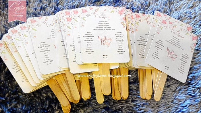 Wedding Personalized Fans Modern Invitation Program Church