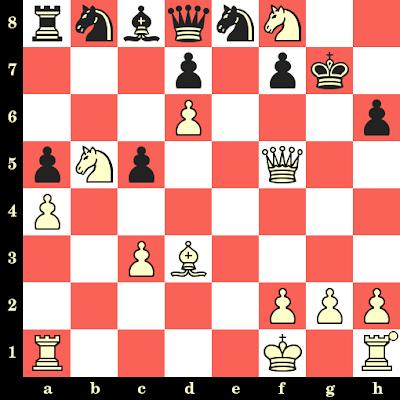 Les Blancs jouent et matent en 4 coups - Nino Batsiashvili vs Adriana Nikolova, Allemagne, 2014