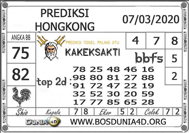 Prediksi Togel HONGKONG DUNIA4D 07 MARET 2020