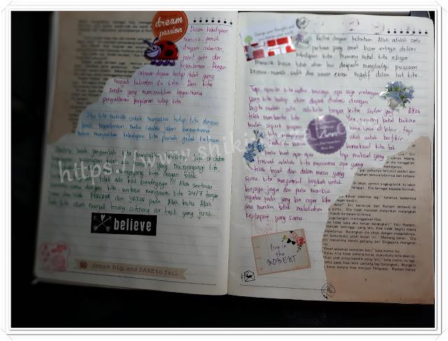 Bullet journal of inspirational / motivation words  (www.shikinrazali.com)