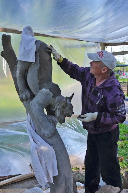 Создание живого символа Лысьвы в парке Лысьвы