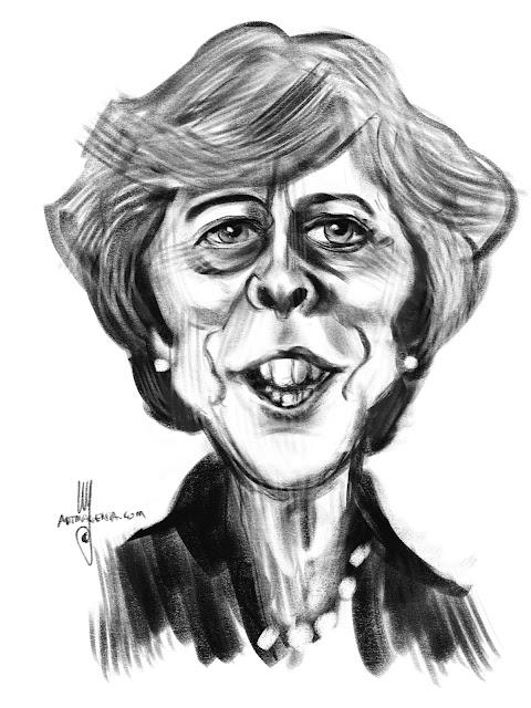 Theresa May caricature by Artmagenta