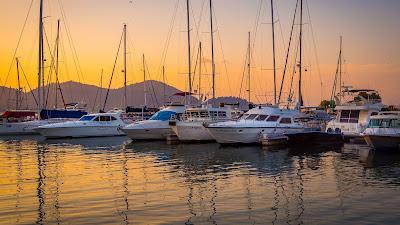 Wallpaper free yachts, boats, sea, sunset