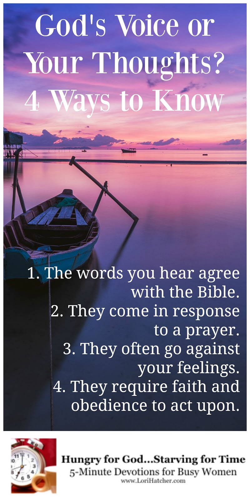 God s Voice or My Thoughts How to Know the Difference