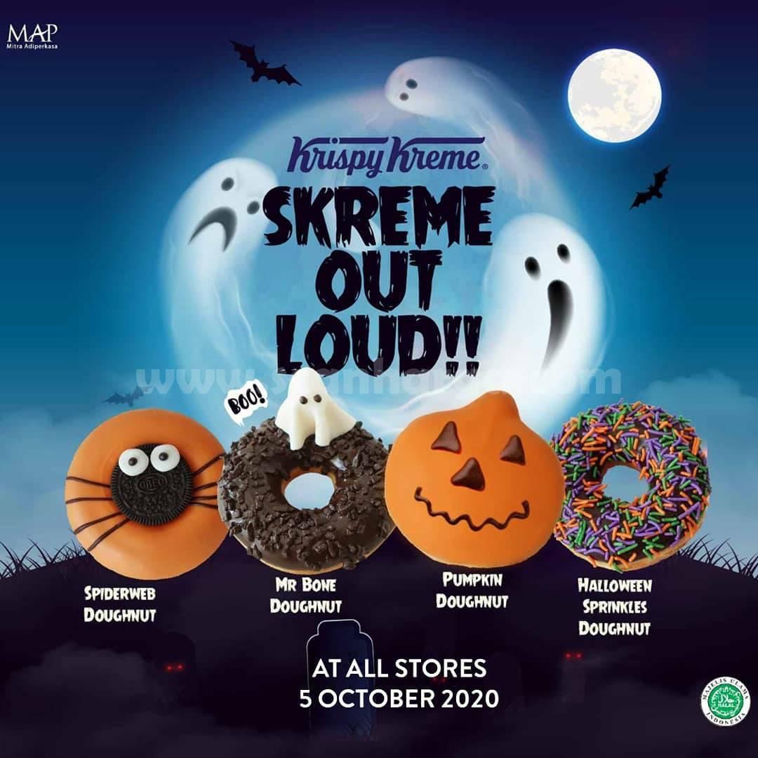 Krispy Kreme Halloween special edition [Spiderweb, Mr Bones, Pumpkin and Halloween Sprinkles doughnut!]