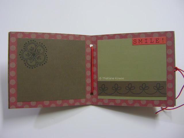 Mini álbum craft scrapbook