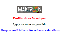 Maktron-Global-IT-Solutions-java-developer-jobs