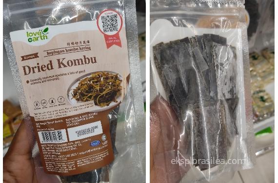 dried kelp or kombu in japanese