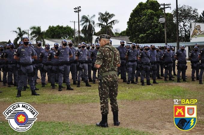 BAEP e a Força Tática encerraram os treinamentos com armamentos realizado em Lins
