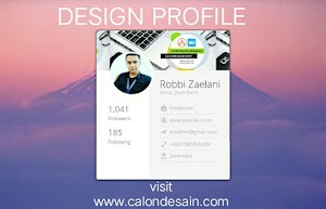 Contoh Design Profile HTML dan CSS