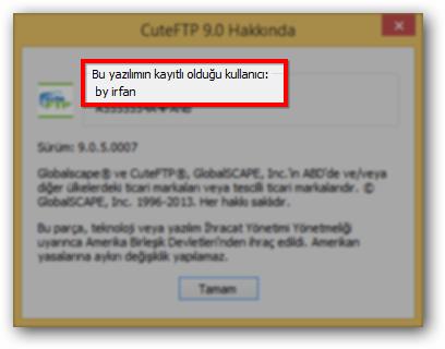 GloabalSPACE CuteFTP Pro 9.0.5.0007 TR  - Katılımsız Program