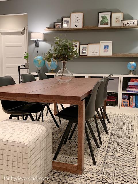 Morbylanga wood table in basement
